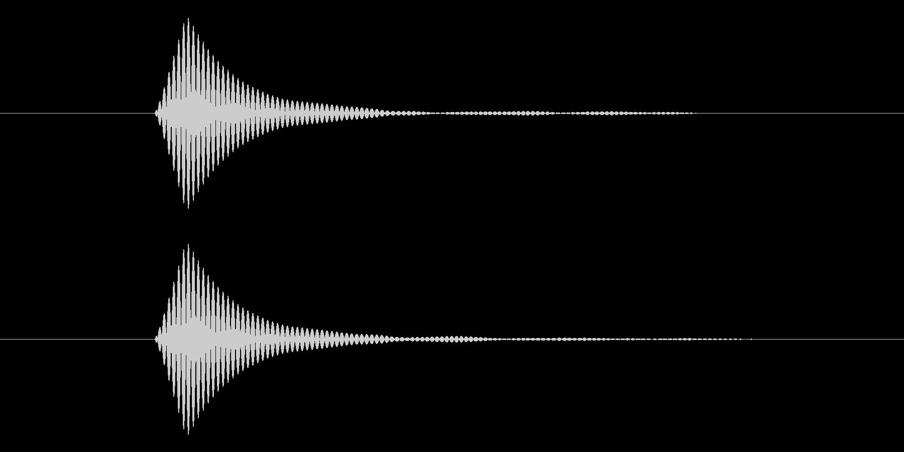 シンプルなボタン音5(トン)の未再生の波形