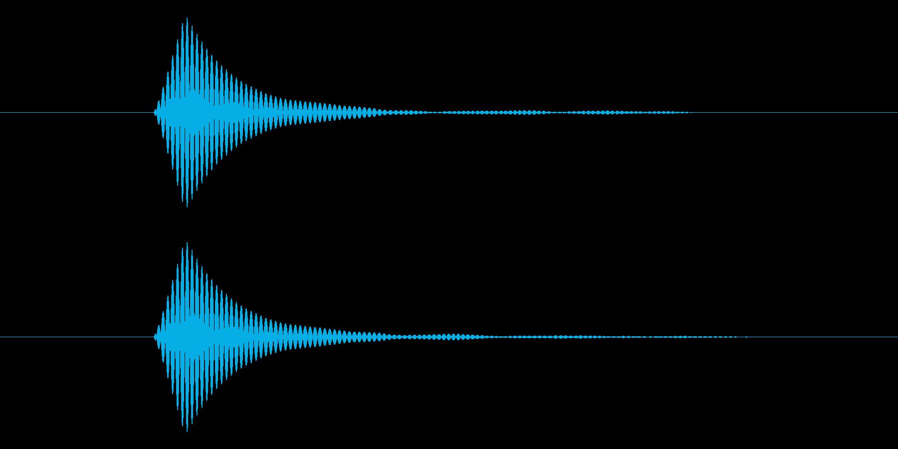 シンプルなボタン音5(トン)の再生済みの波形