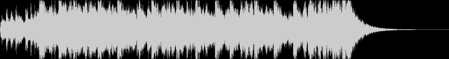 勇壮なエピックオーケストラジングル(短)の未再生の波形