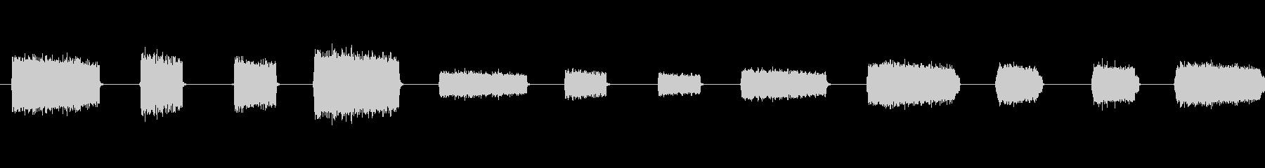 吹く空気、4バージョンX 3治療;...の未再生の波形