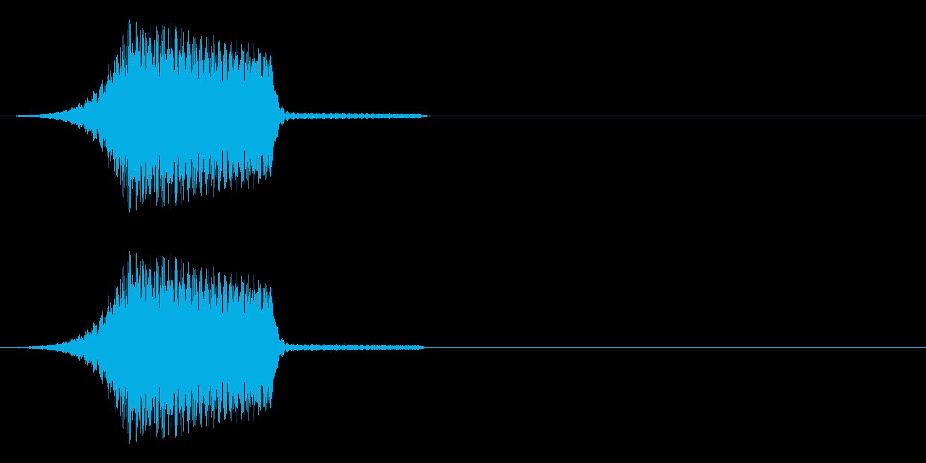 テロップなどが表示されるイメージの再生済みの波形