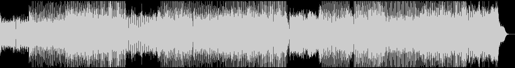 陽気なテクノポップ、重厚なシンセ音の未再生の波形