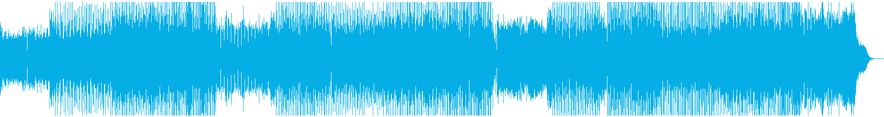 陽気なテクノポップ、重厚なシンセ音の再生済みの波形