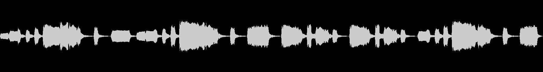 ドイツ民謡「池の雨」(リコーダー)の未再生の波形
