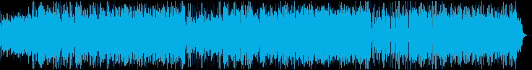 サックスとスラップが絡むファンクロックの再生済みの波形