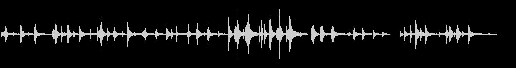 静かな夜のピアノソロの未再生の波形