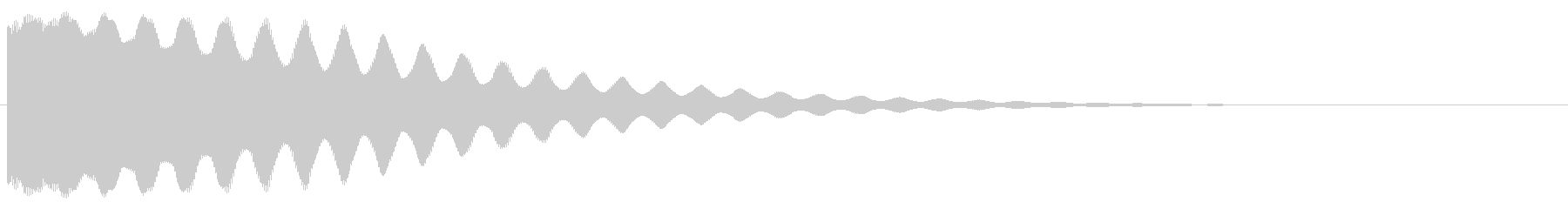 ちーん/お鈴/仏具/仏壇の未再生の波形