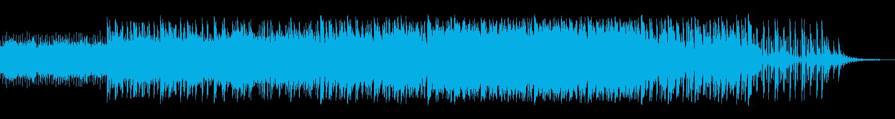 宇宙的で近未来風なBGMの再生済みの波形
