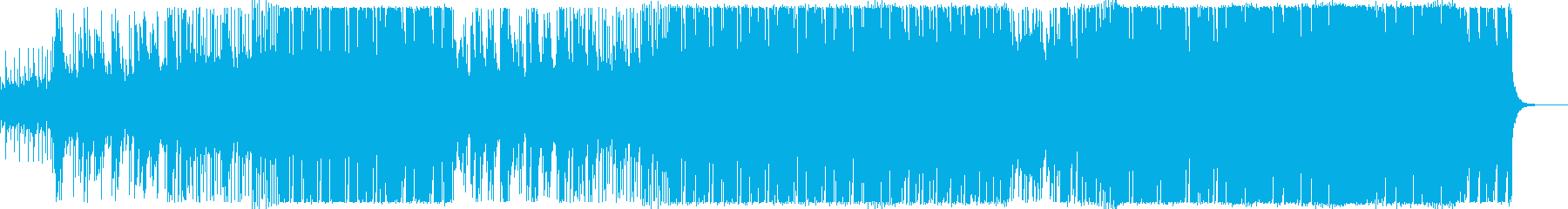 シンセチックで機械的なファンクの再生済みの波形