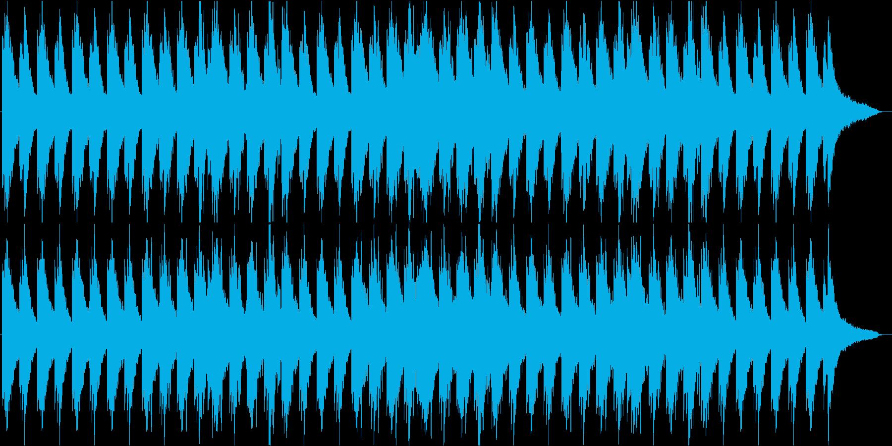 ピアノがメインの落ち着いたBGMの再生済みの波形