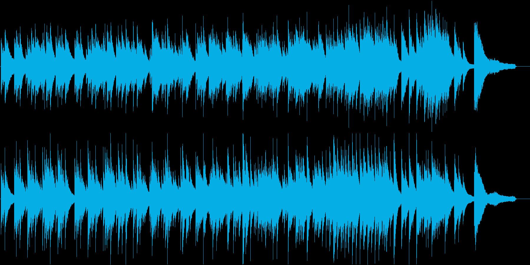 ゆったりと流れていくようなピアノ曲。の再生済みの波形