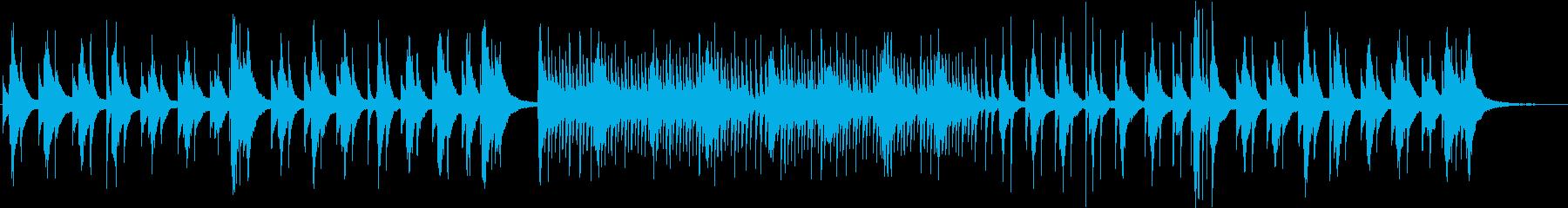 秋をイメージした感傷的な琴の再生済みの波形