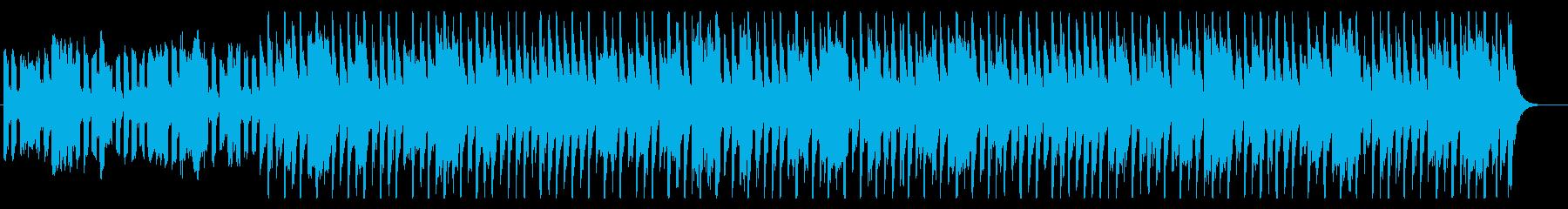 スピード感のある明暗の同居するEDMの再生済みの波形