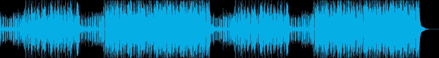2つのジャンルを繰り返すEDMの再生済みの波形