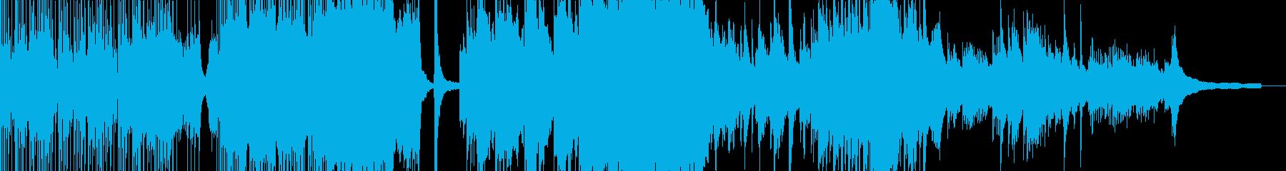 和楽器の壮大な和風バラードの再生済みの波形