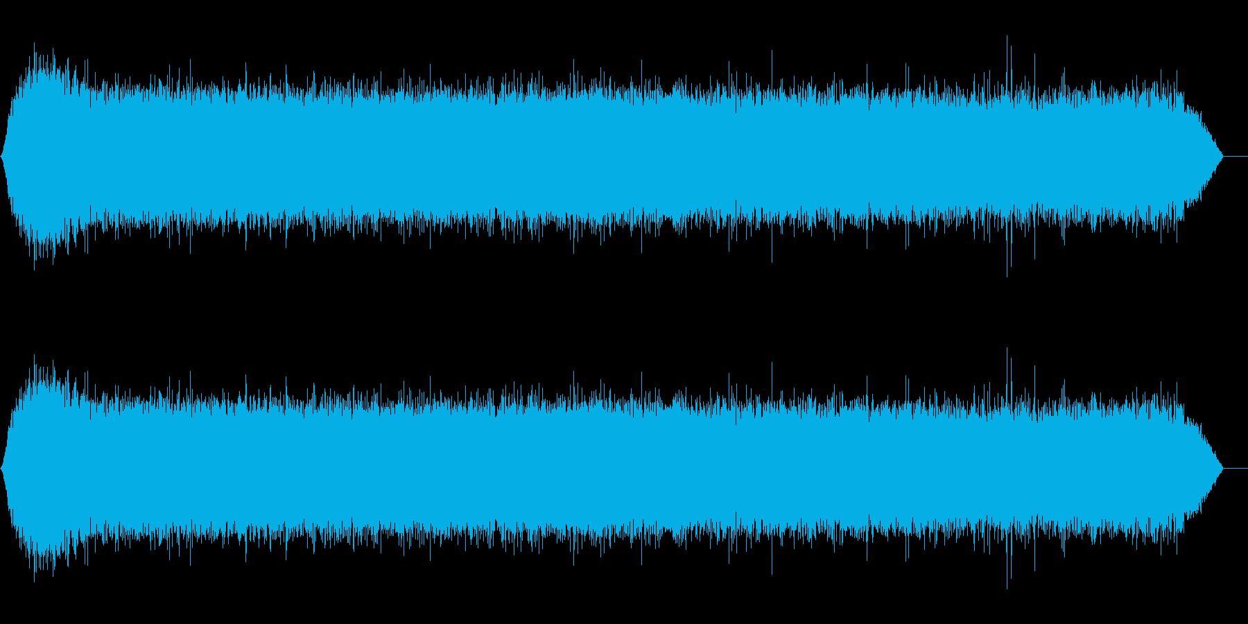 雨の音(ザー)パート01の再生済みの波形