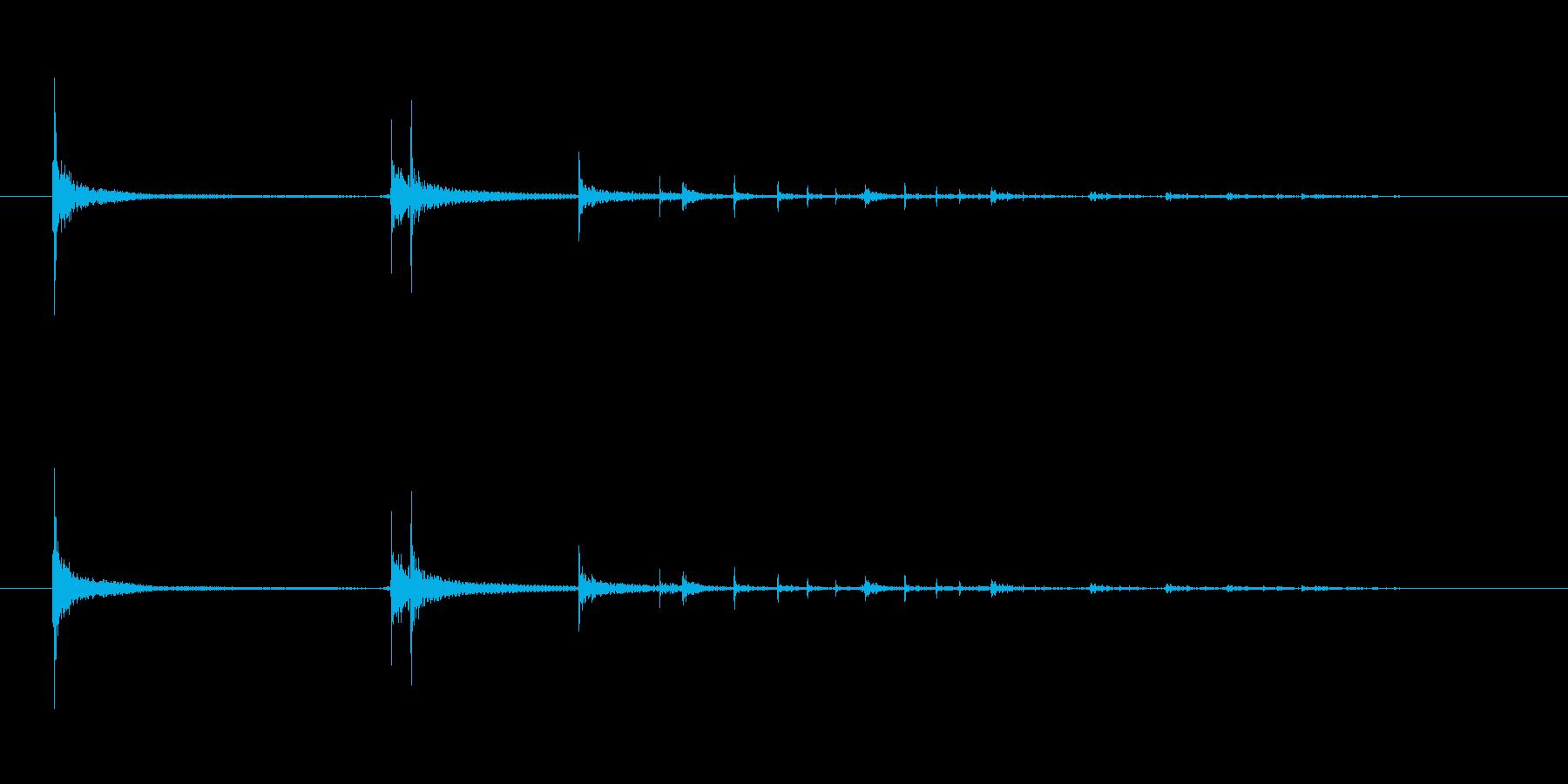 アルミ缶が落ちる音(木の板ドライ)高度中の再生済みの波形