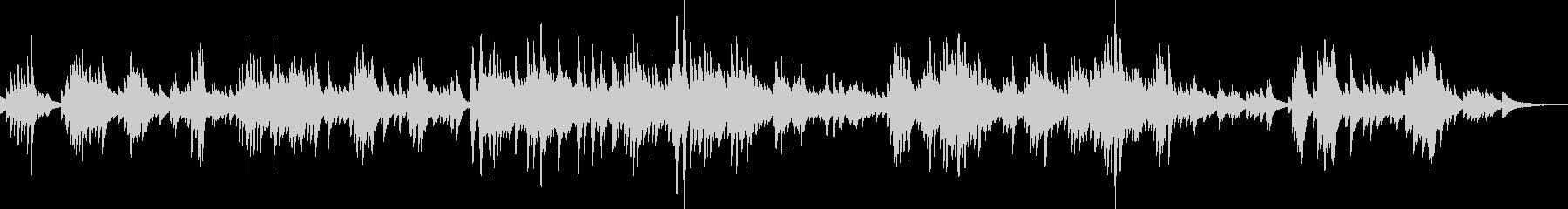 大人の哀愁漂うピアノ曲の未再生の波形