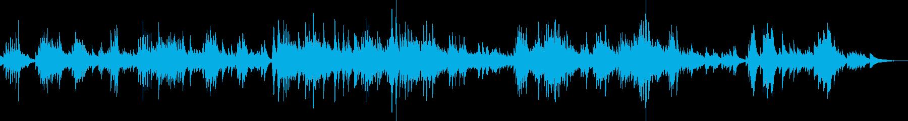 大人の哀愁漂うピアノ曲の再生済みの波形