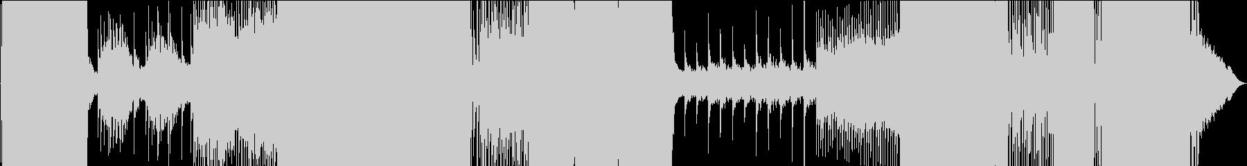 起伏のあるミディアムテンポのEDMの未再生の波形