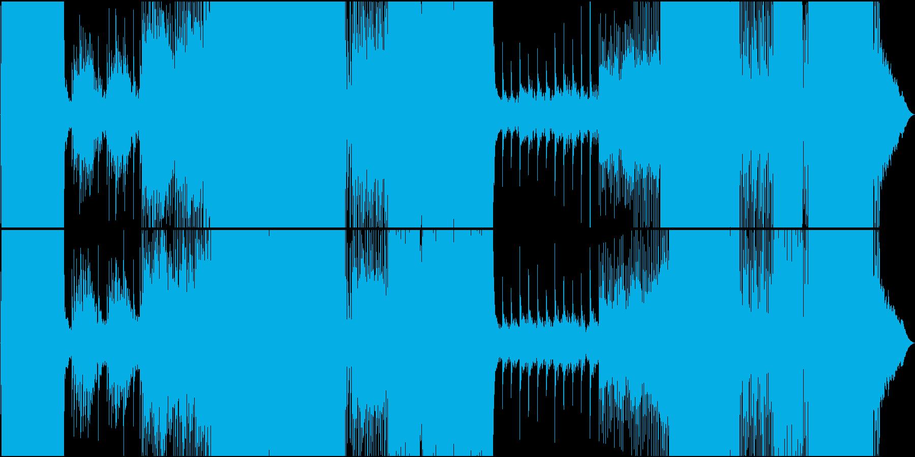 起伏のあるミディアムテンポのEDMの再生済みの波形