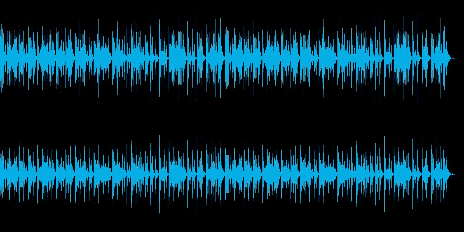 落ち着いた和風な曲の再生済みの波形