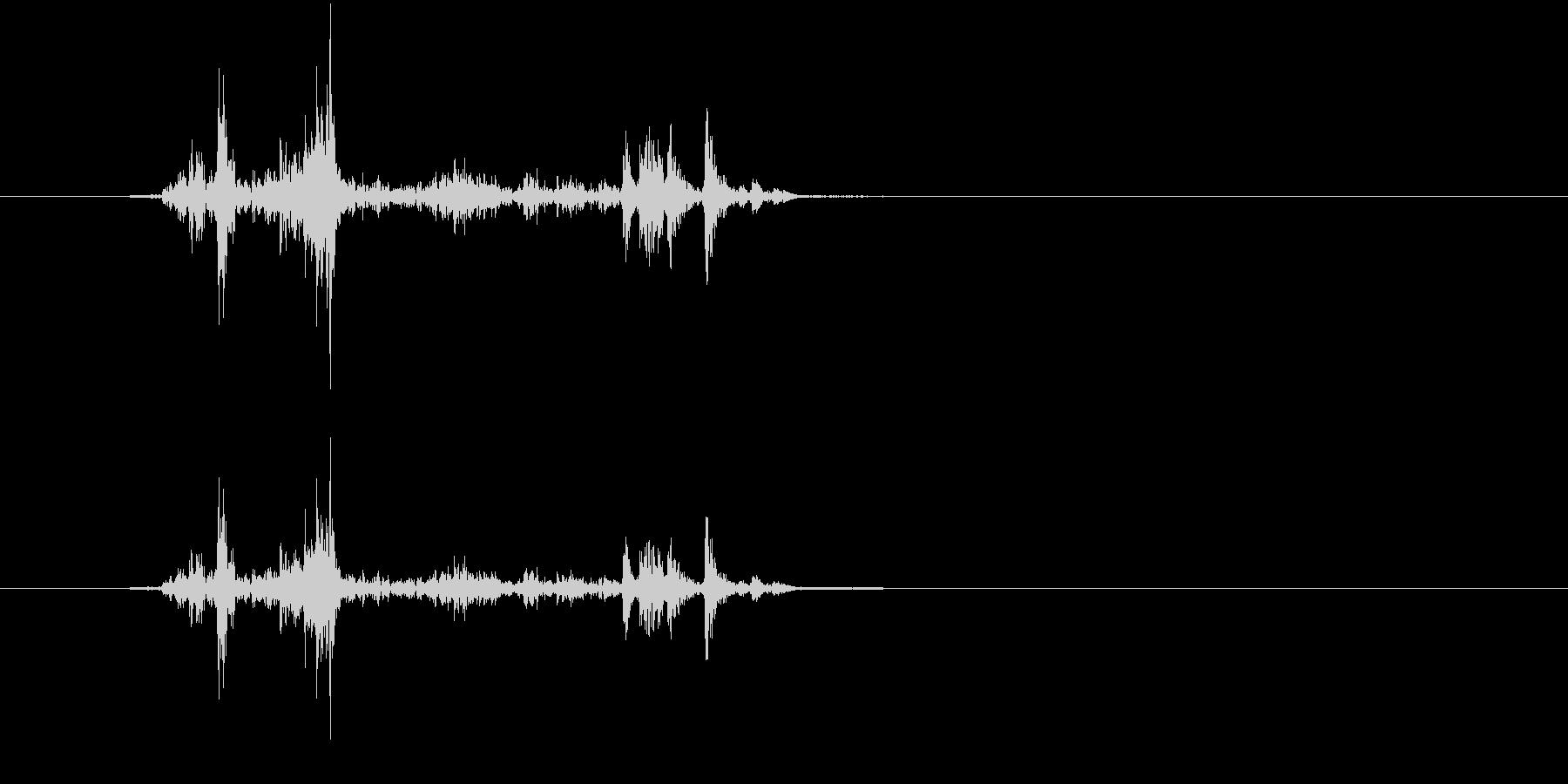 デジカメ シャッター音の未再生の波形