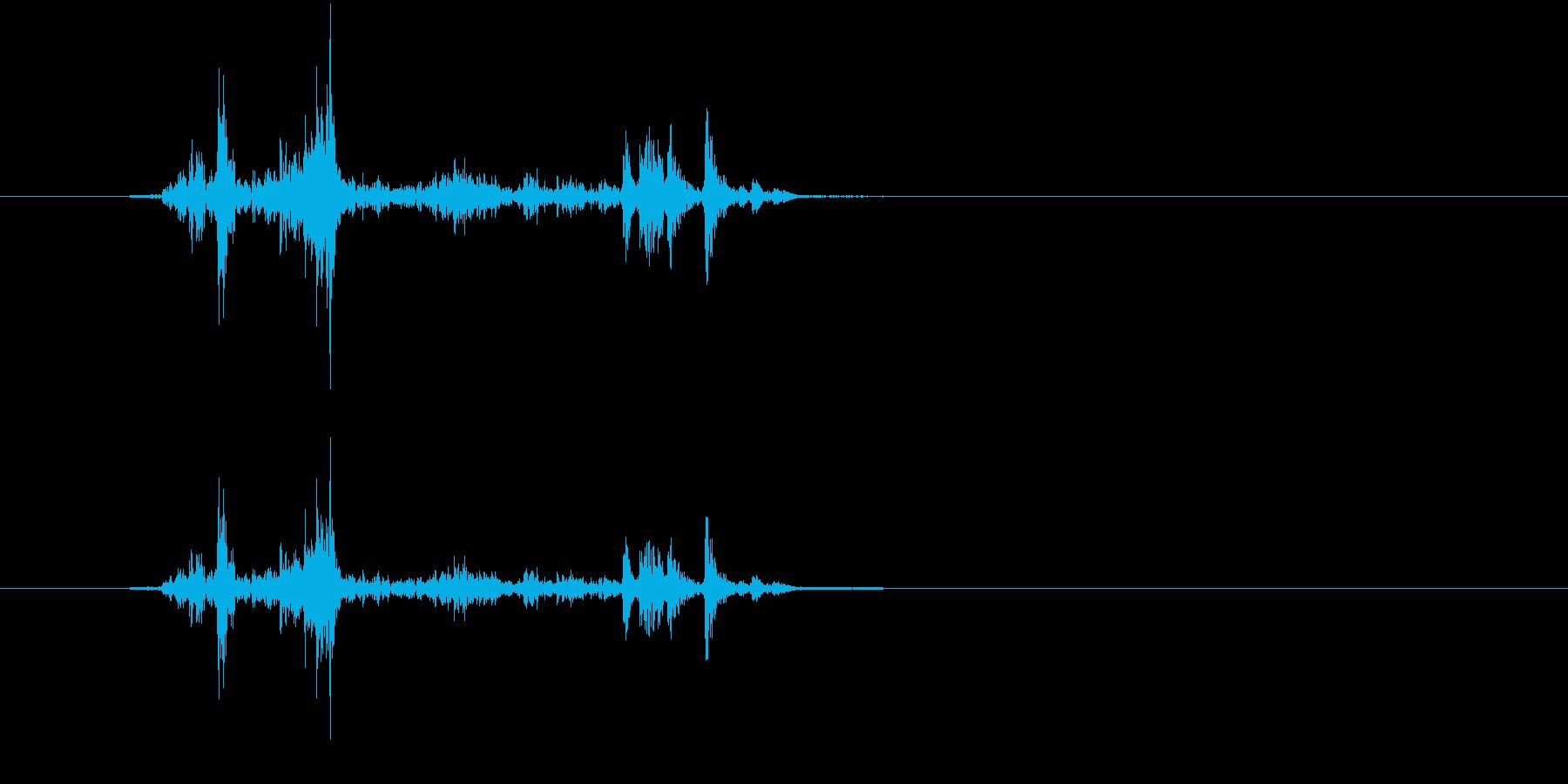 デジカメ シャッター音の再生済みの波形