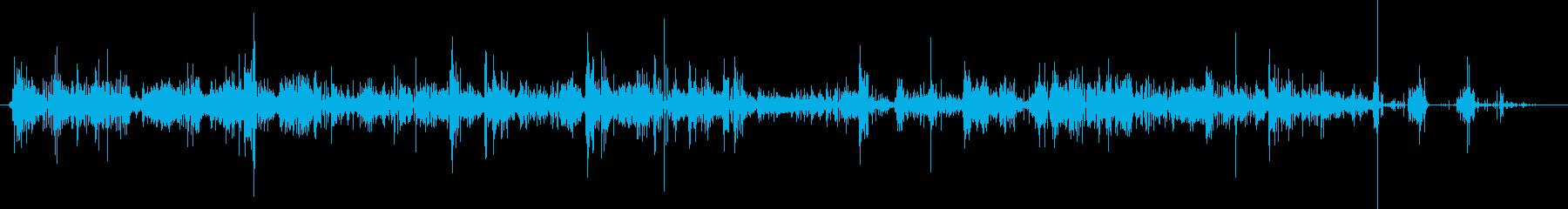 きしむパックスノー:ランニング、ア...の再生済みの波形