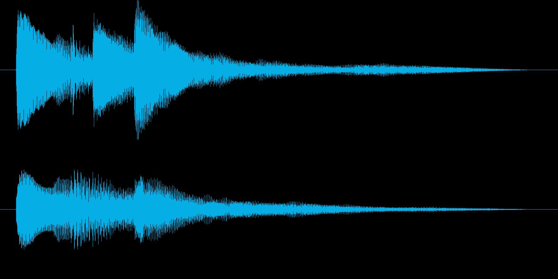 ピアノだけのシンプルで綺麗なジングル3の再生済みの波形