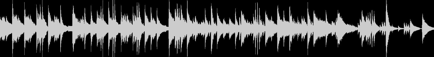 緊張感あるミステリー弦楽ピアノ曲の未再生の波形
