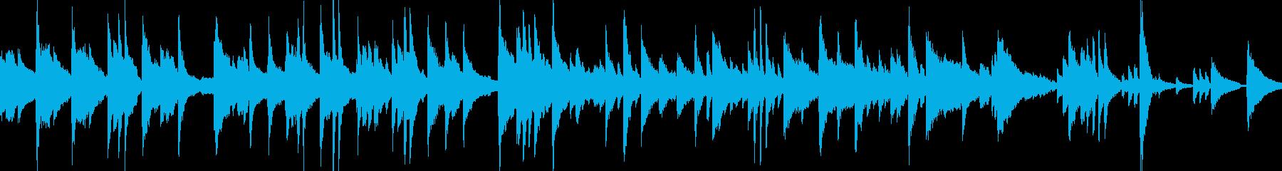緊張感あるミステリー弦楽ピアノ曲の再生済みの波形