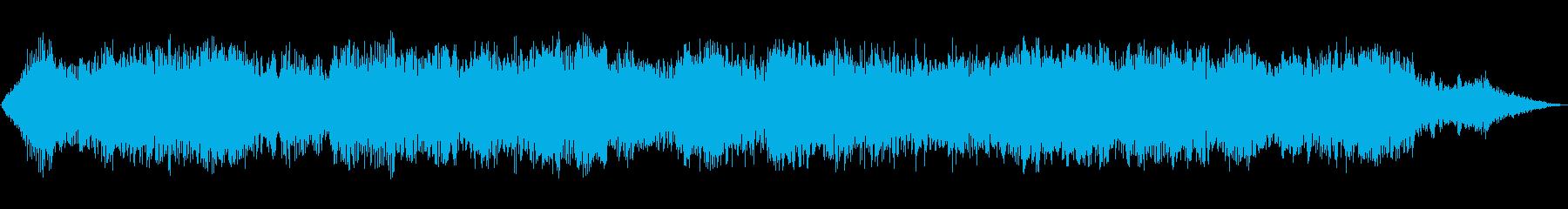 低音パッドのドローンとリングの再生済みの波形