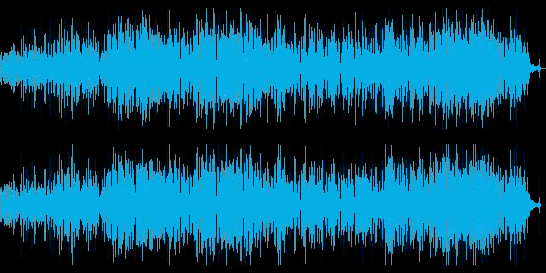 フルート生演奏のボサノバの再生済みの波形