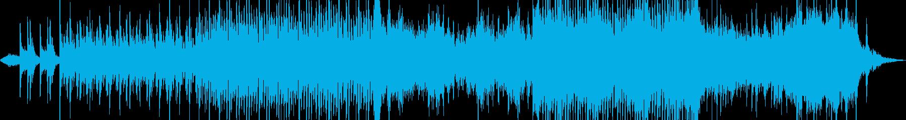 ドローン等による空撮映像をイメージした曲の再生済みの波形
