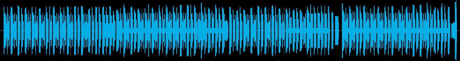 明るく楽しい8bit風BGMの再生済みの波形