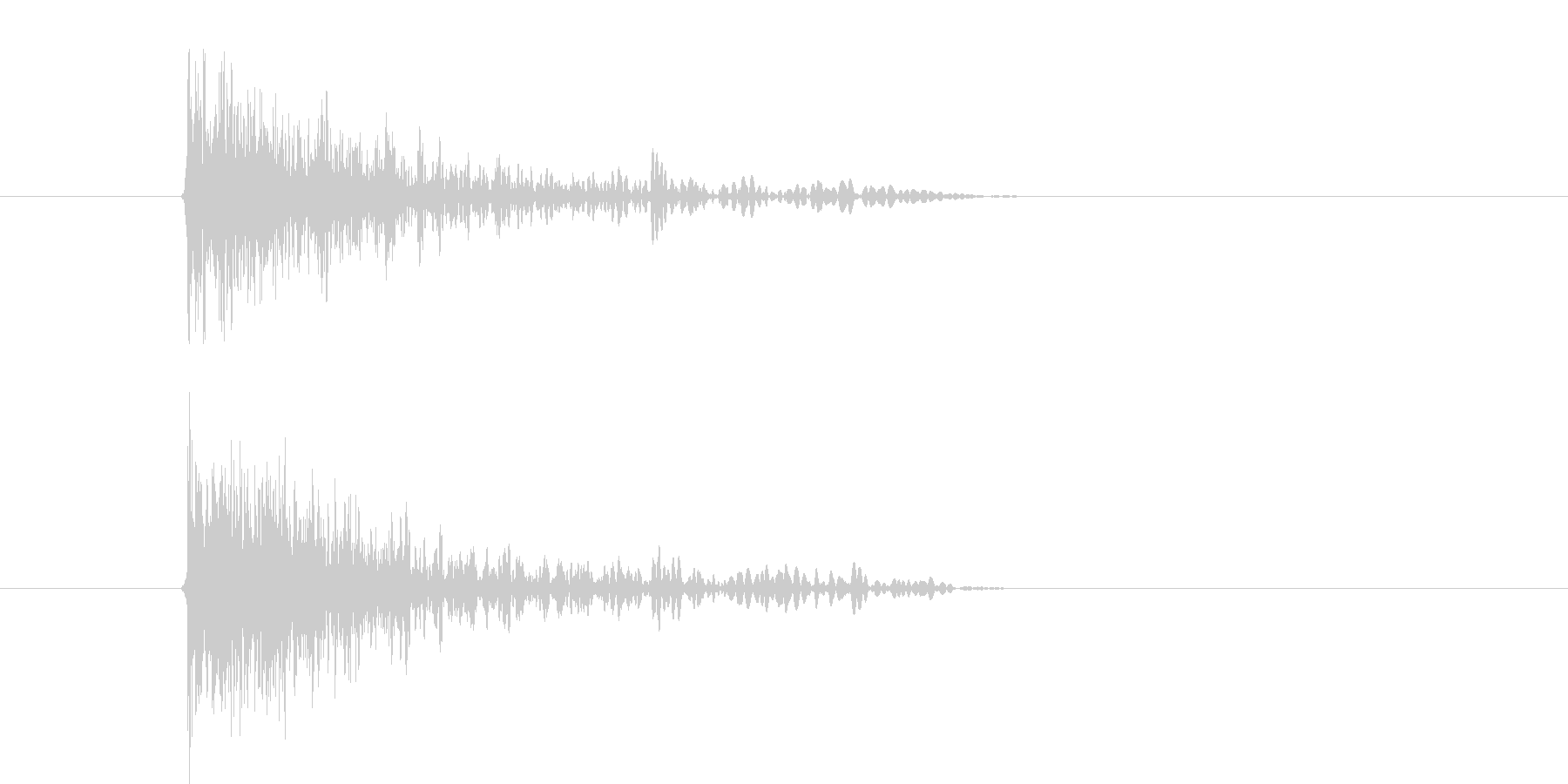 バシューン(ピストル、銃、撃つ)の未再生の波形