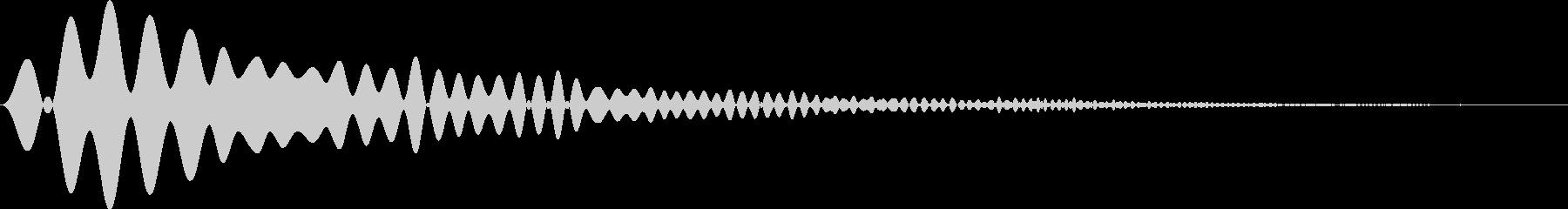 カーソル・決定・キャンセル音 「ヒュワ」の未再生の波形