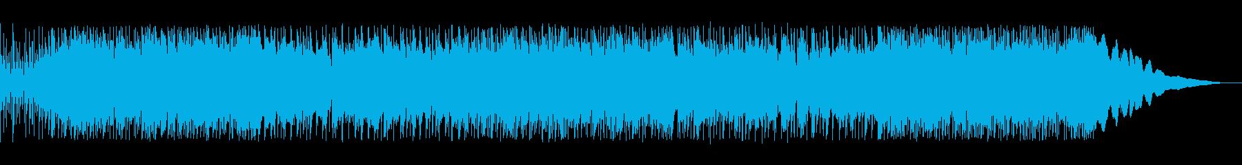 疾走感のあるアジアンテイストな曲の再生済みの波形