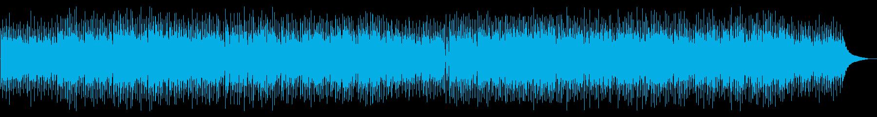 アップテンポなアコースティックポップの再生済みの波形