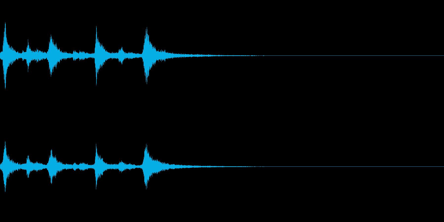 クリスマスのベル、鈴の効果音 ロゴ08の再生済みの波形