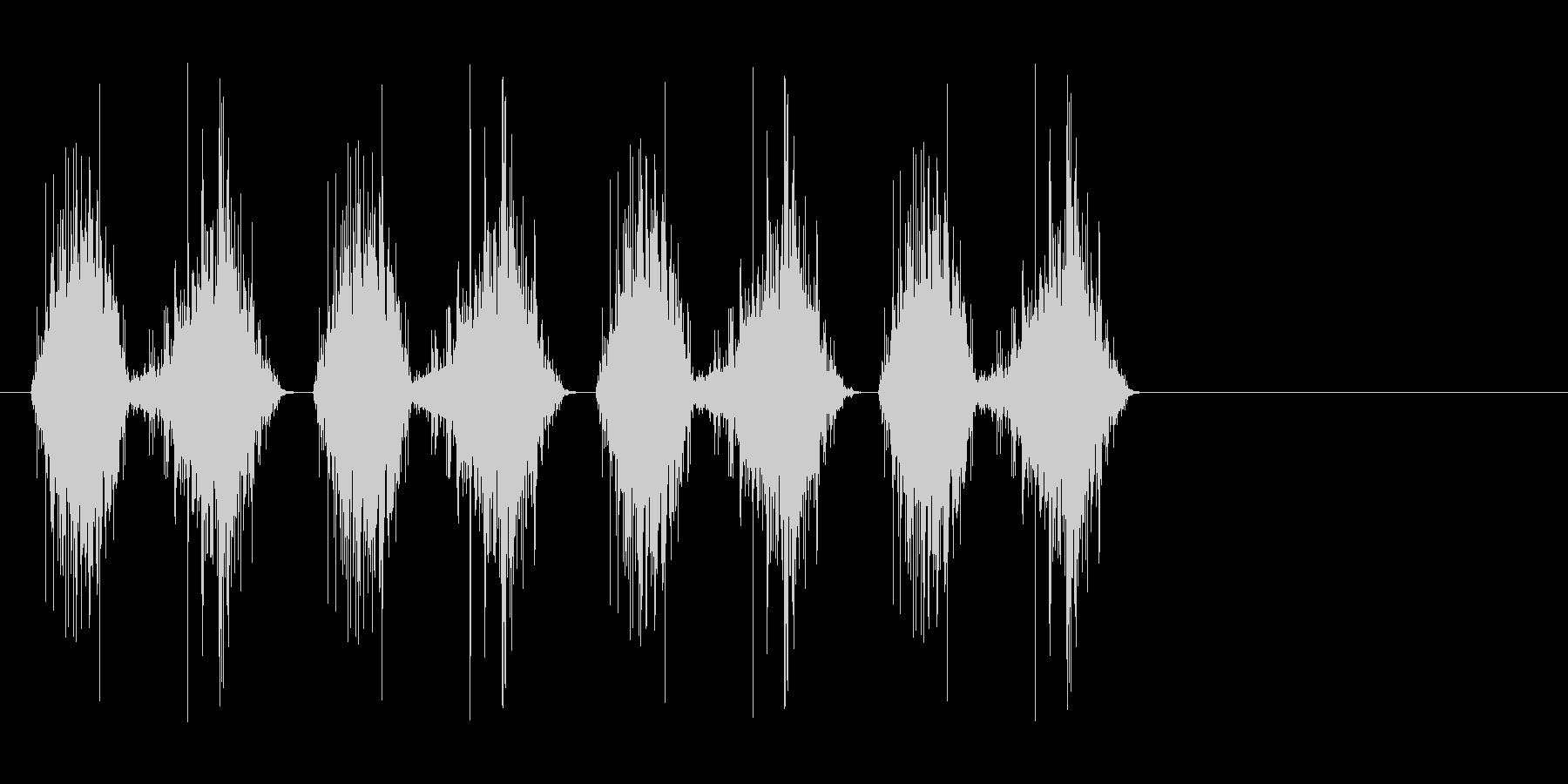 シャリシャリ…(すり下ろす、料理)の未再生の波形