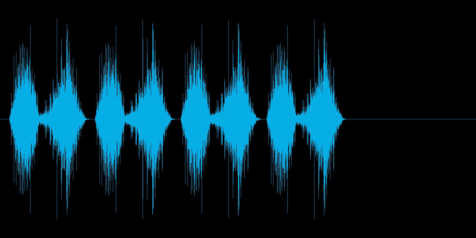 シャリシャリ…(すり下ろす、料理)の再生済みの波形