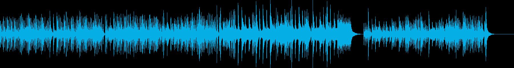 可愛らしいゆったりBGMの再生済みの波形