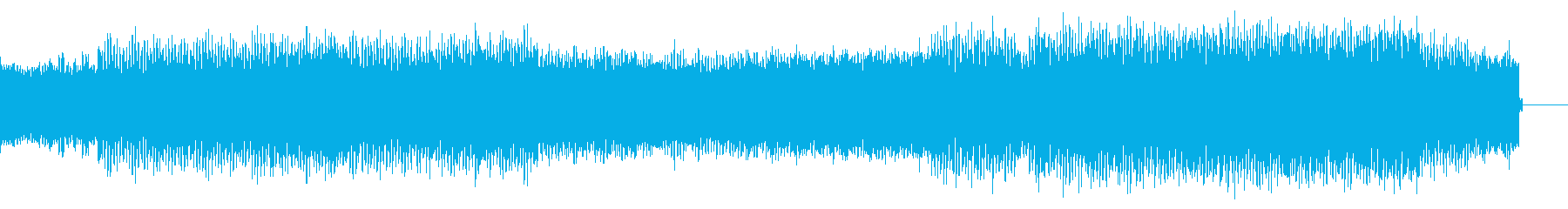 パワフルで乱暴な感じのテクノサウンドの再生済みの波形