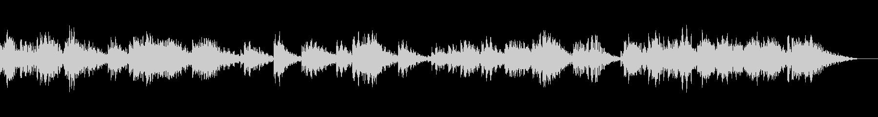 透明感のあるパッドによるアンビエント音楽の未再生の波形