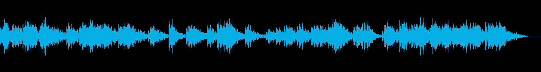 透明感のあるパッドによるアンビエント音楽の再生済みの波形