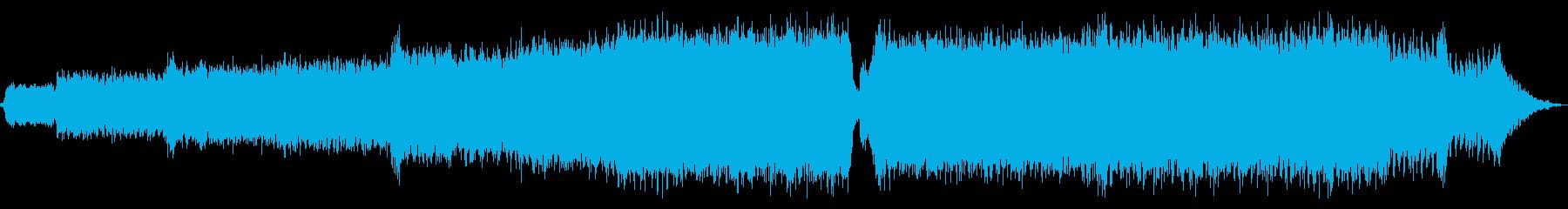 澄み渡る青空_ピアノなしの再生済みの波形
