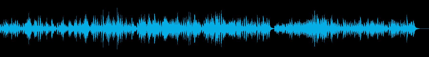 優しく可愛いオルゴール曲の再生済みの波形