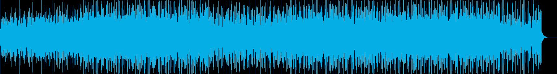 疾走感あふれる中に強い意志を感じるBGMの再生済みの波形